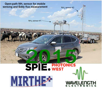 MIRTHE demos mobile ammonia sensor with Wavelength components at PW2015