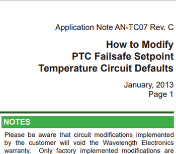 PTC Failsafe Default Mod – New Application Note