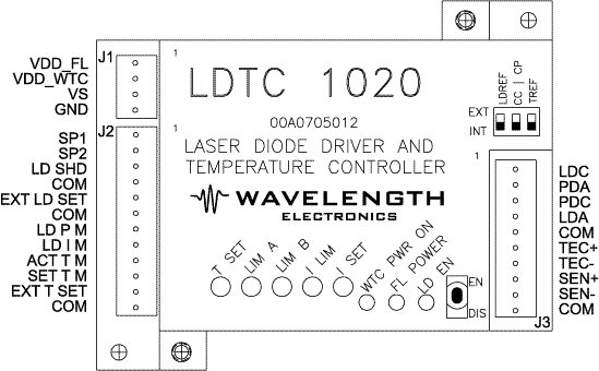 Top View of LDTC1020 or LDTC0520