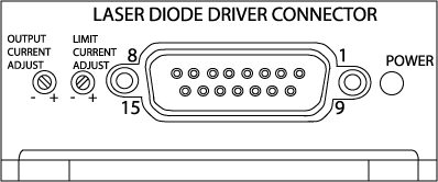 Front View of MPL Laser Diode Driver
