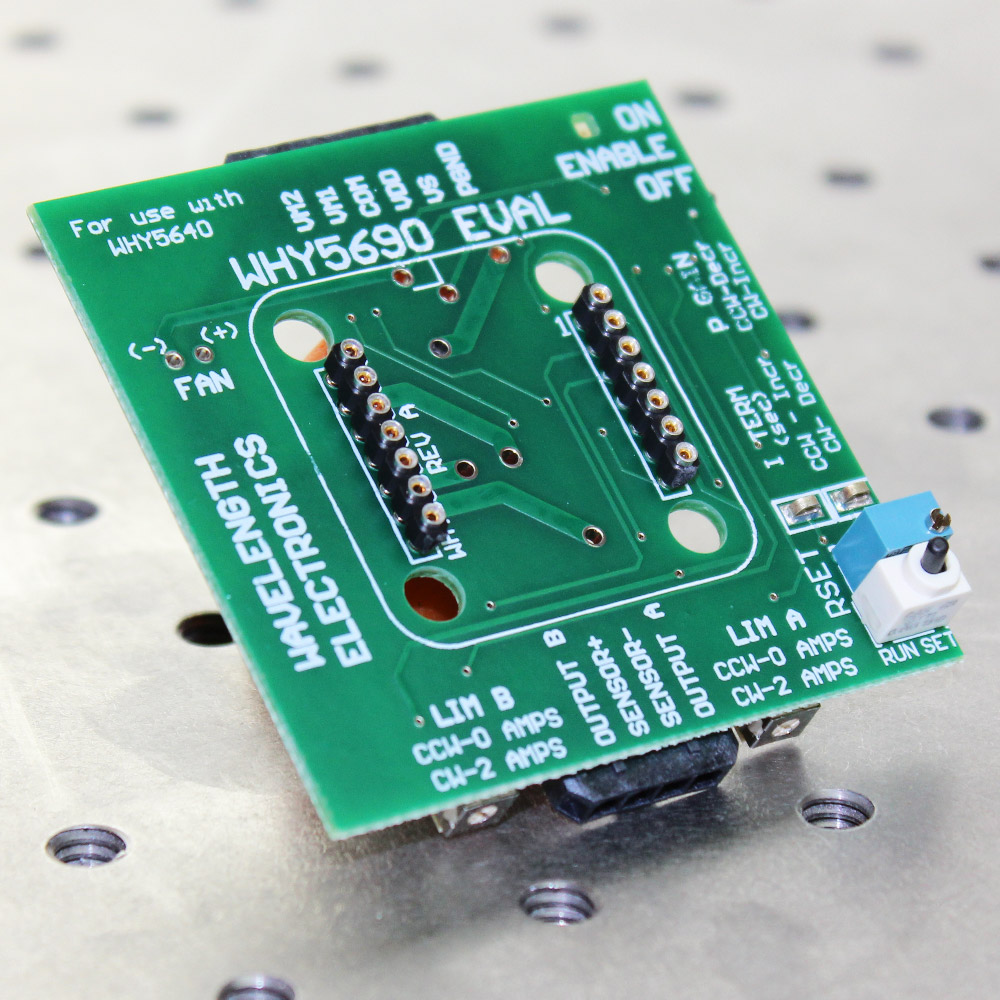 Evaluation PCB for WHY5640 Temperature Controller