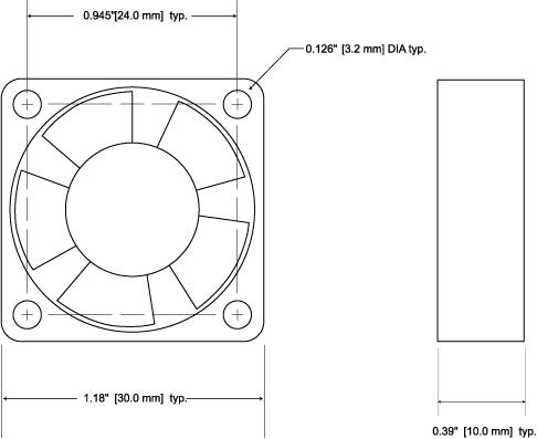WXC304 Dimensions
